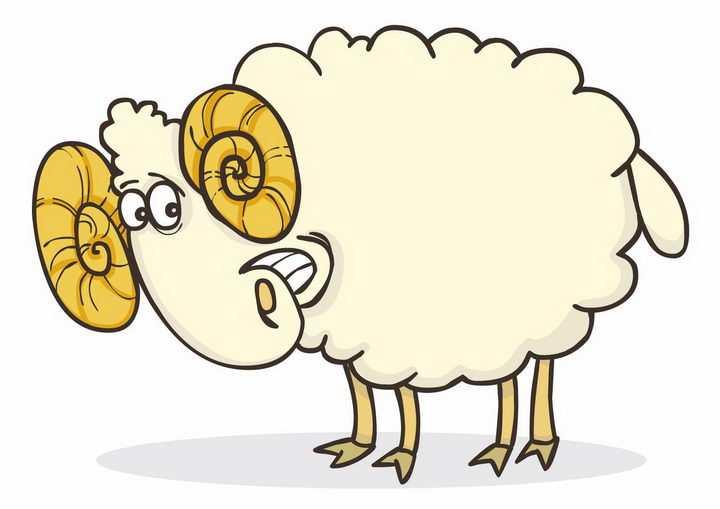 搞笑可爱的卡通绵羊png图片免抠矢量素材