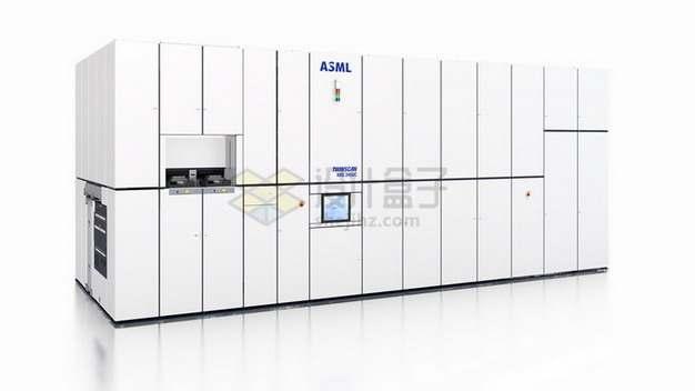 安装好的ASML极紫光刻机外观图png图片素材