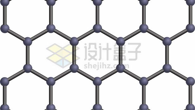 石墨烯薄膜分子结构图细节png图片素材