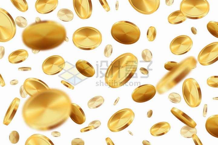 掉落的金币雨金色金属光泽png图片免抠矢量素材