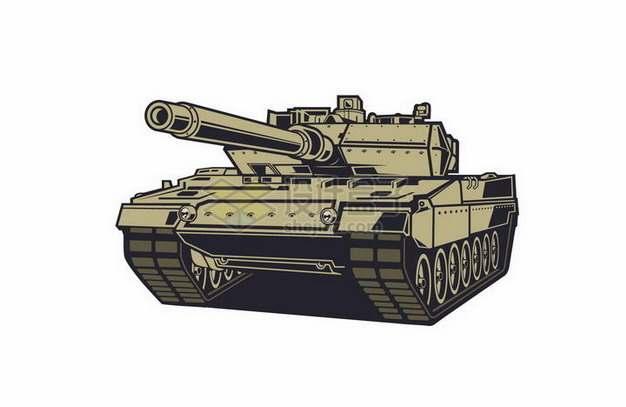 手绘漫画风格3D坦克png图片免抠矢量素材