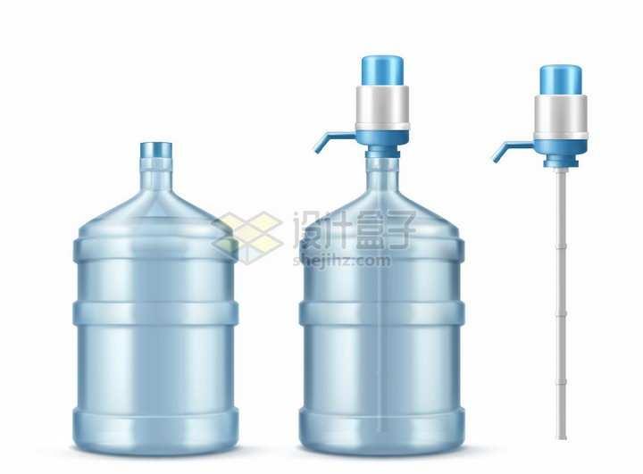 纯净水桶装水压水器抽水器手动取水器png图片素材