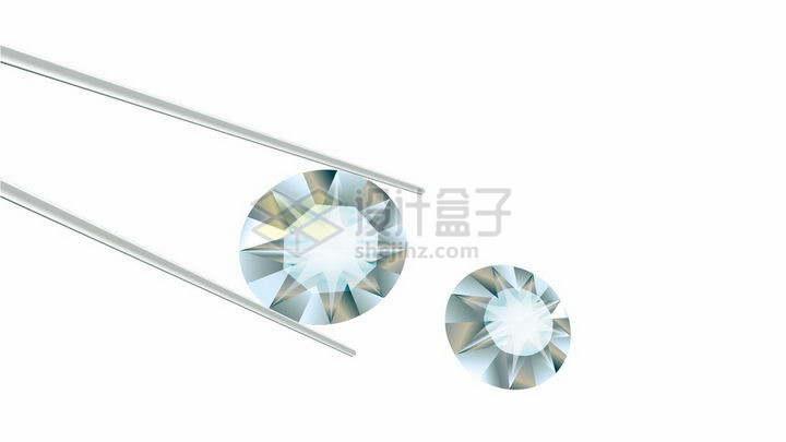 镊子夹起钻石png图片免抠矢量素材