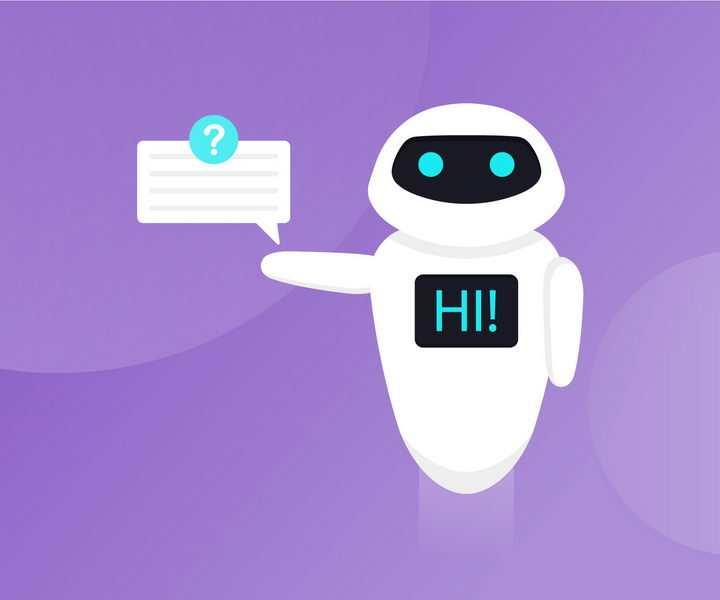 可爱的卡通白色小机器人png图片免抠矢量素材