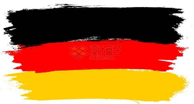 涂鸦彩色德国国旗图案png图片素材