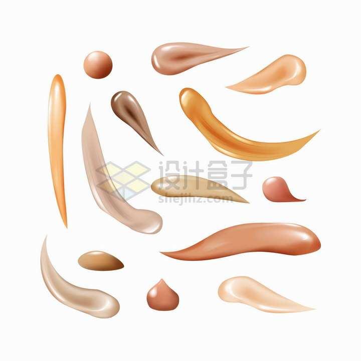 粉底液遮瑕膏涂抹笔触png图片素材2020040906