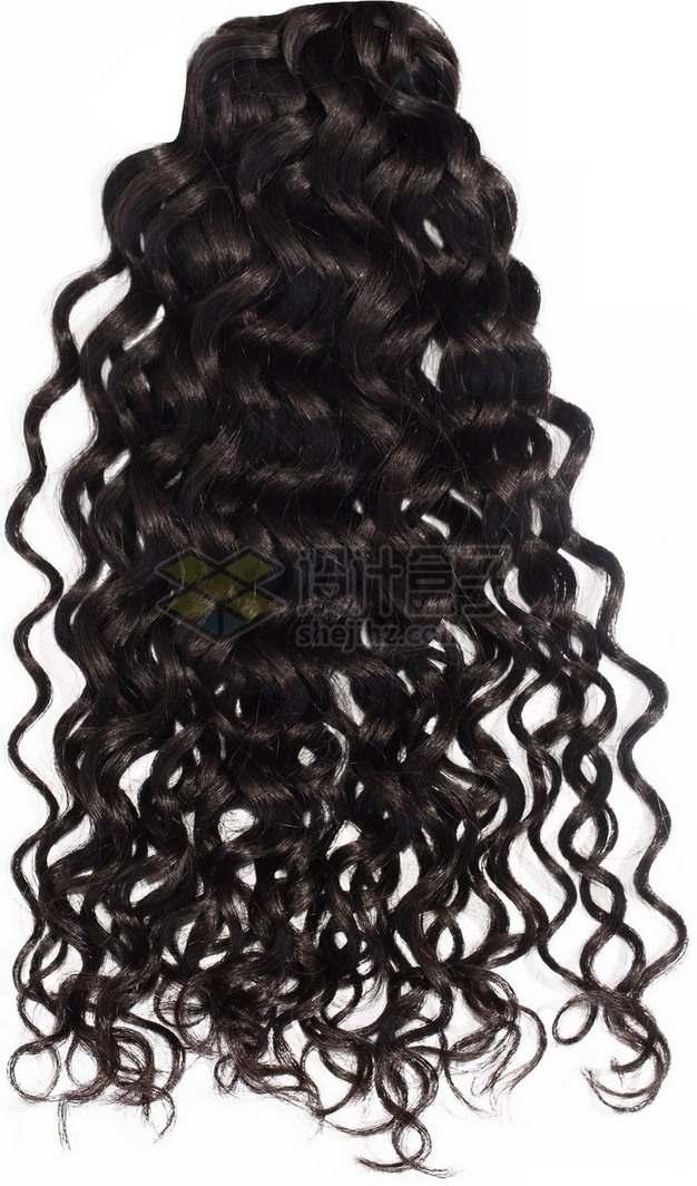 亚麻色的女性卷发造型长发发型png免抠图片素材