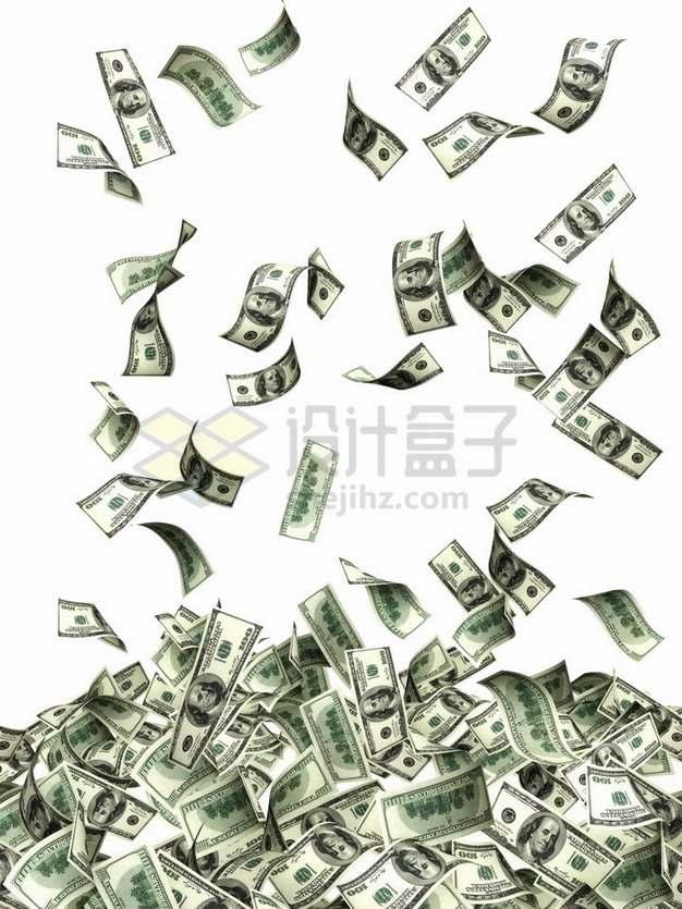 掉落的美元钞票纸币png图片素材