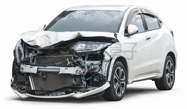 车祸现场被撞坏的白色汽车76221094png图片素材