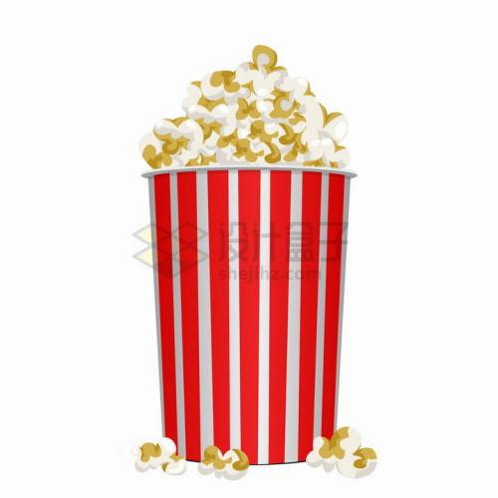 电影院大杯爆米花美味零食png图片素材