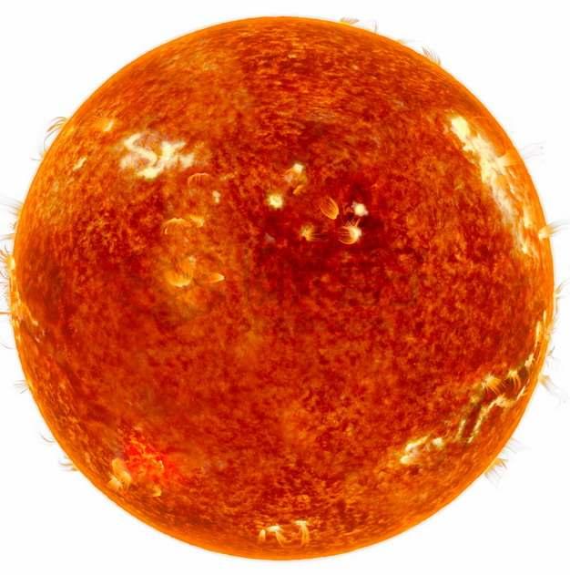 高清太阳表面细节图耀斑黑子等png图片素材