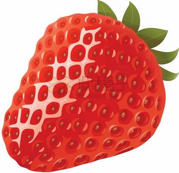 晶莹剔透的红色红颜草莓png图片素材
