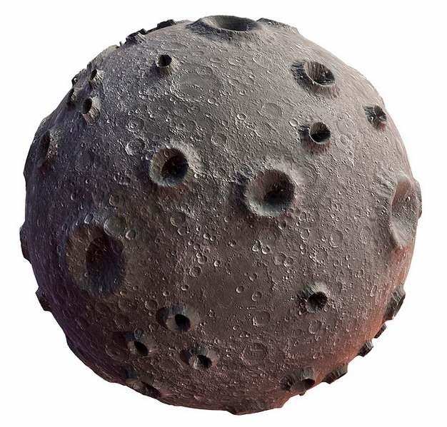 很多陨石坑环形山的3D立体外星球png图片素材