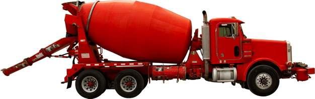 红色的水泥搅拌车侧视图409657png图片素材