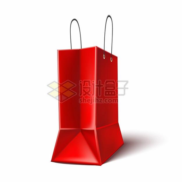 红色购物袋礼品袋手提袋853793png图片矢量图素材 生活素材-第1张