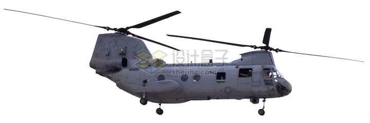 飞行中的CH-47支奴干直升机png图片免抠素材