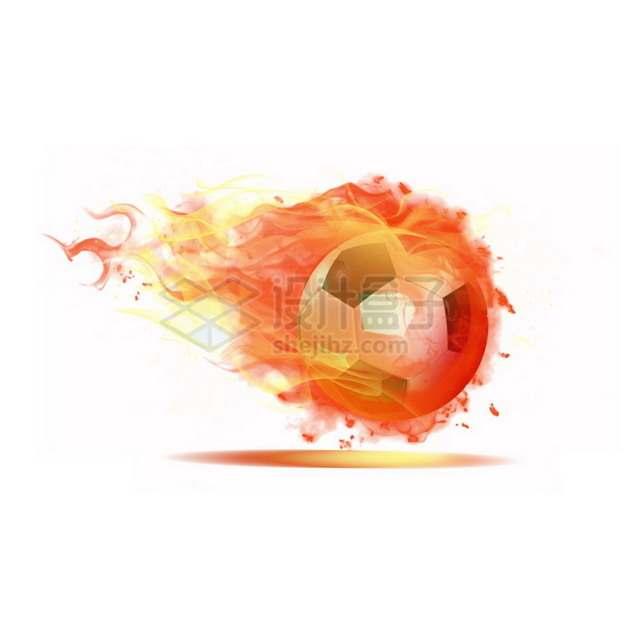 燃烧着火焰的足球特效果7676724png图片素材