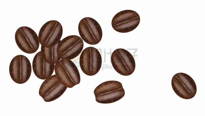 一小堆咖啡豆美味美食原料png图片免抠矢量素材