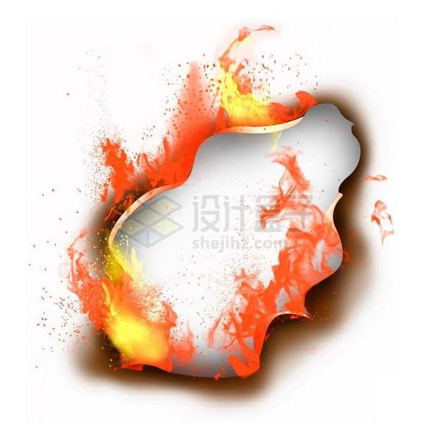 燃烧着火焰的纸张特效果0976464png图片素材