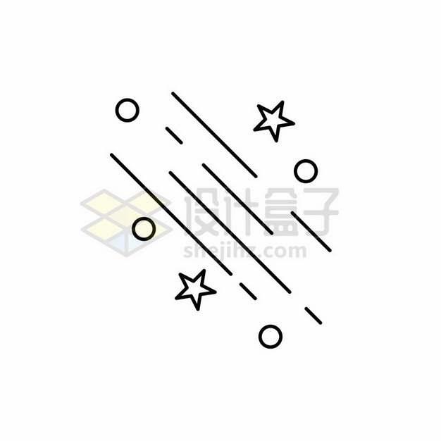 简约直线和线条五角星圆形装饰图案439504png图片素材