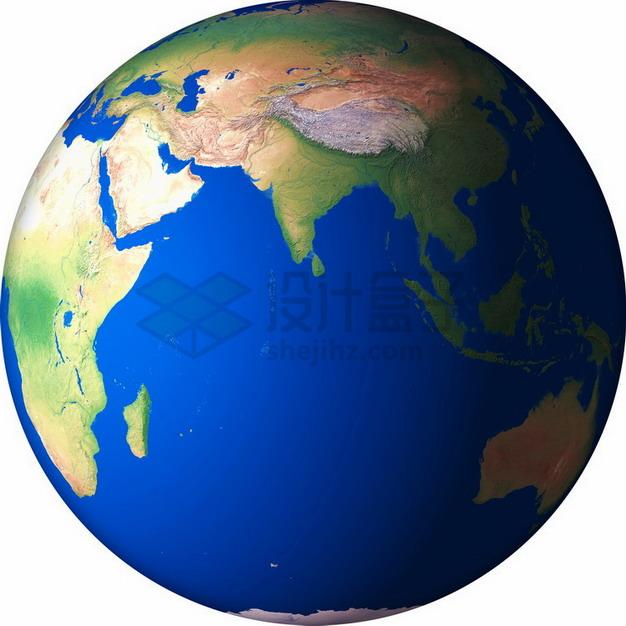 高清地球定位在印度洋png免抠图片素材 科学地理-第1张