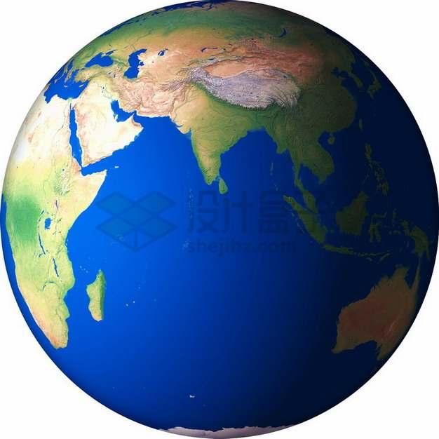 高清地球定位在印度洋png免抠图片素材