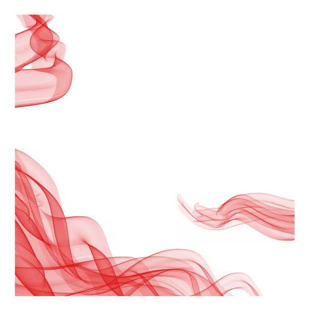 各种半透明飘扬的红色绸缎面丝绸红旗装饰435879png图片素材