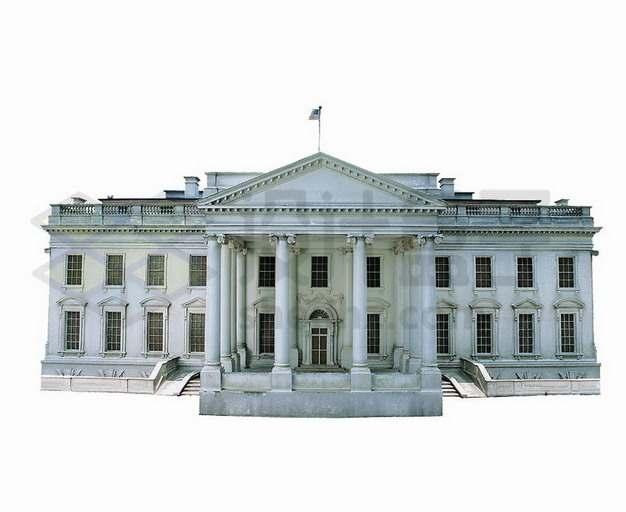 美国白宫建筑后门png图片素材