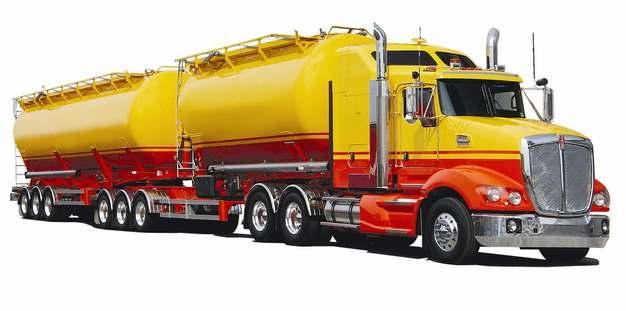 两节挂车的槽罐车油罐车危险品运输卡车特种运输车483412png图片素材
