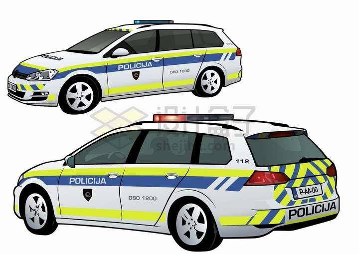 国外涂装的警车png图片免抠矢量素材