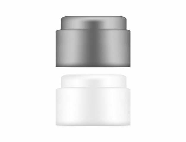 两款空白包装的雪花膏化妆品瓶子478746png图片素材