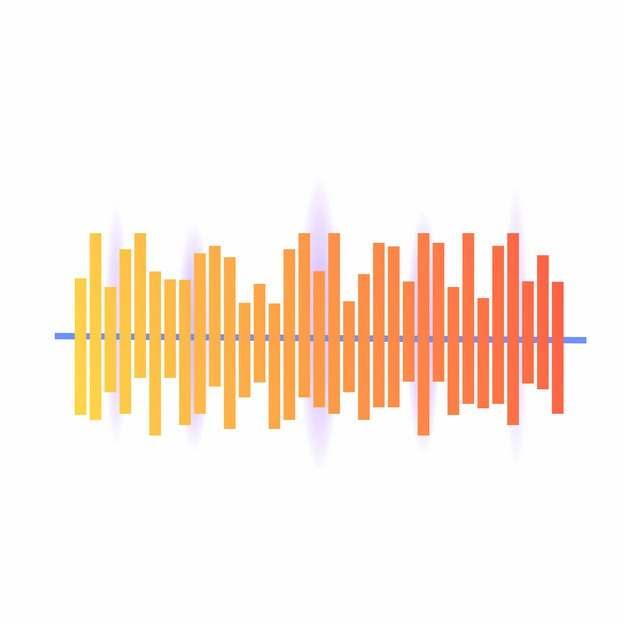 彩色渐变色风格声波音频波段线条839162png图片AI矢量图素材