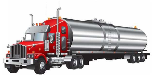 银色槽罐车油罐车危险品运输卡车特种运输车612867png图片素材