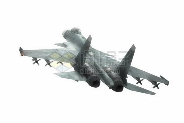 苏37侧卫三翼面战斗机后视图png免抠图片素材 军事科幻-第1张