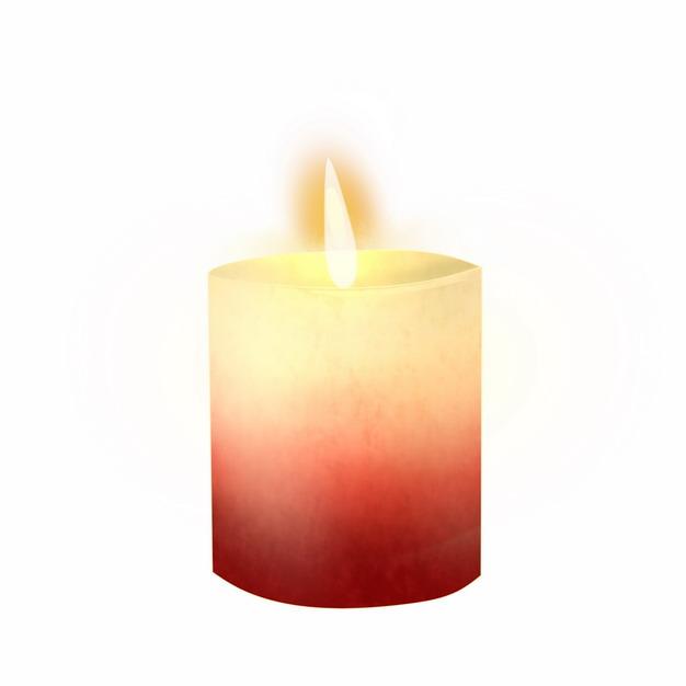 彩绘风格燃烧火苗的红色蜡烛2192692png图片素材 生活素材-第1张