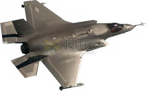 F-35B肥电战斗机顶视图png免抠图片素材