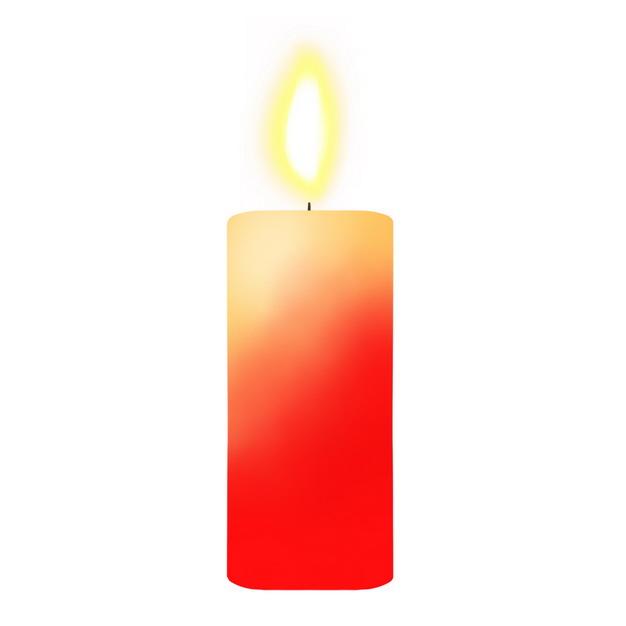 彩绘风格燃烧着的红色蜡烛4805844png图片素材 生活素材-第1张