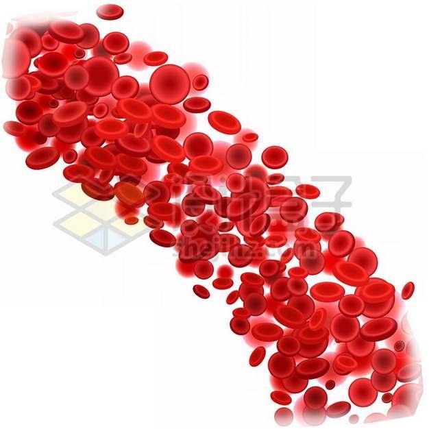 血液中的一堆红细胞png图片素材