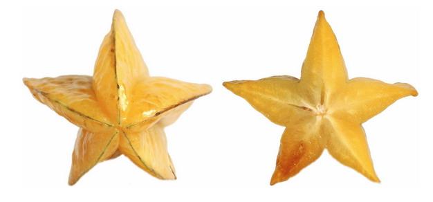 2个五角星杨桃7689745png图片素材 生活素材-第1张