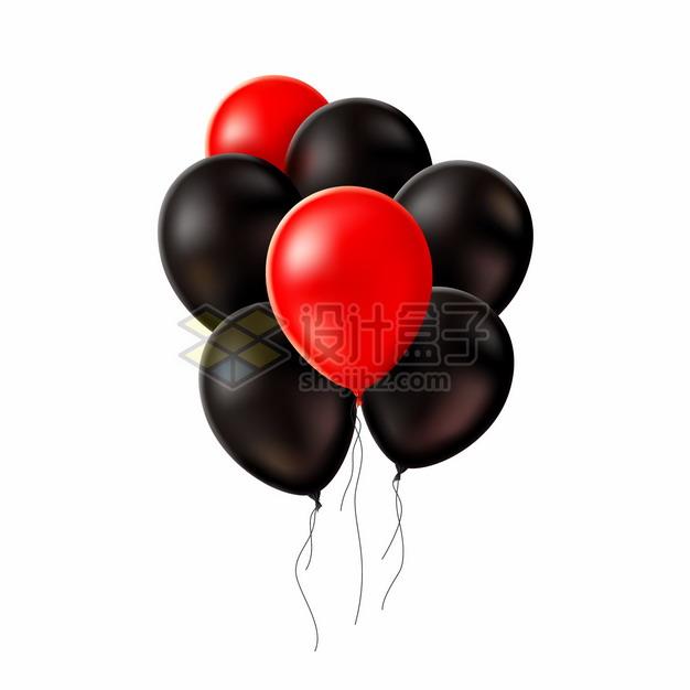 红色和黑色气球322497png图片矢量图素材 漂浮元素-第1张