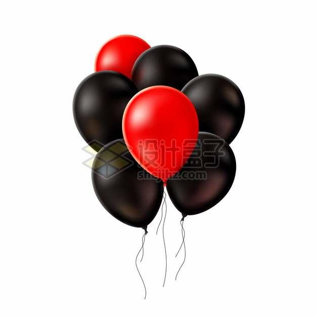 红色和黑色气球322497png图片矢量图素材