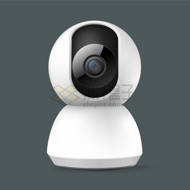 白色的家用智能摄像机云台摄像头png图片免抠矢量素材 IT科技-第1张