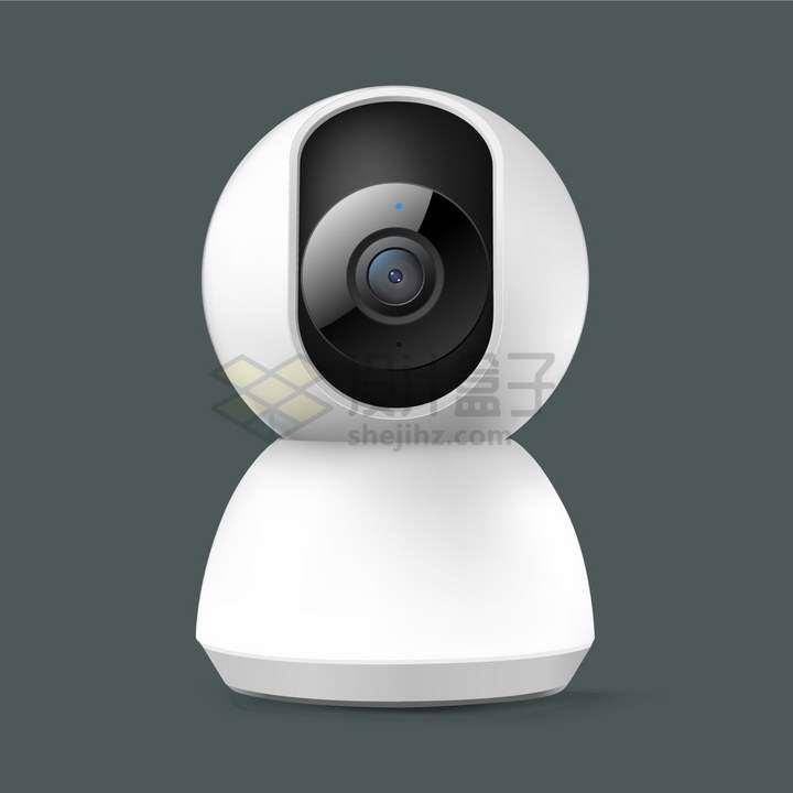 白色的家用智能摄像机云台摄像头png图片免抠矢量素材