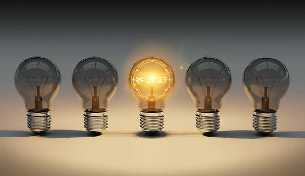 创意5个电灯泡中的发光图案psd样机图片模板素材