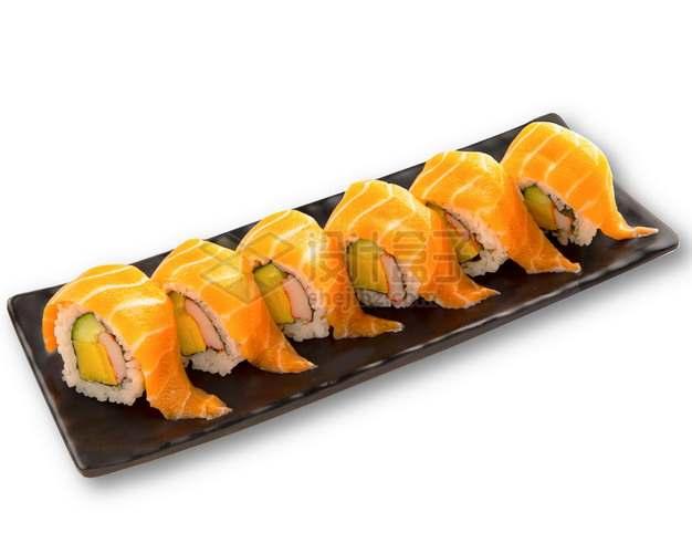 三文鱼反卷寿司日式料理png图片素材