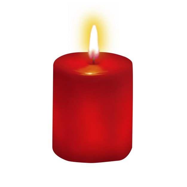 燃烧火焰的红色蜡烛8762254png图片素材