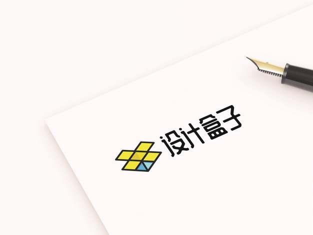 钢笔在A4纸上描绘的文字logo图案psd样机图片模板素材