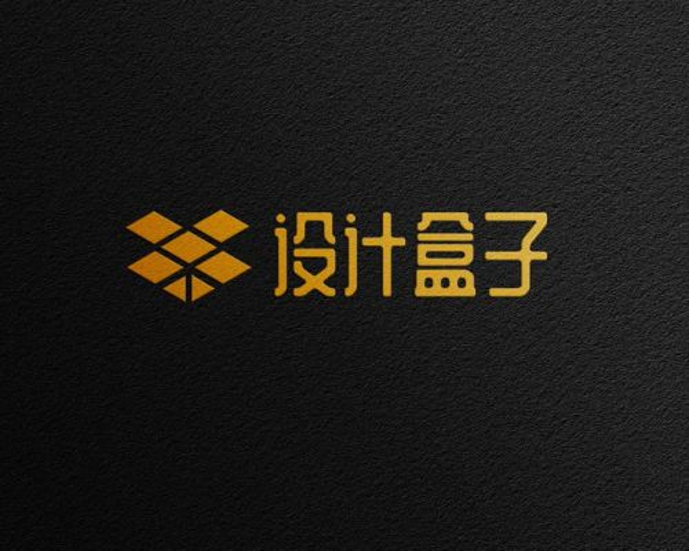 黑色磨砂纸上的金色文字logo图案psd样机图片模板素材