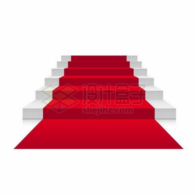 灰白色的台阶和红地毯png图片免抠矢量素材 商务职场-第1张
