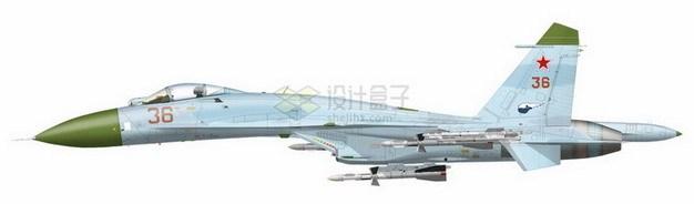 苏27侧卫战斗机侧视图870327png免抠图片素材 军事科幻-第1张